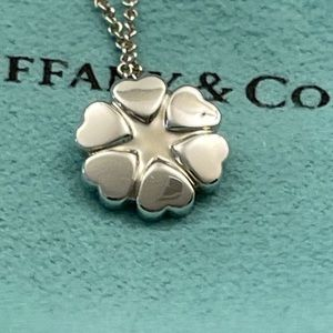 Tiffany & Co. Crown of Hearts Pendant Necklace